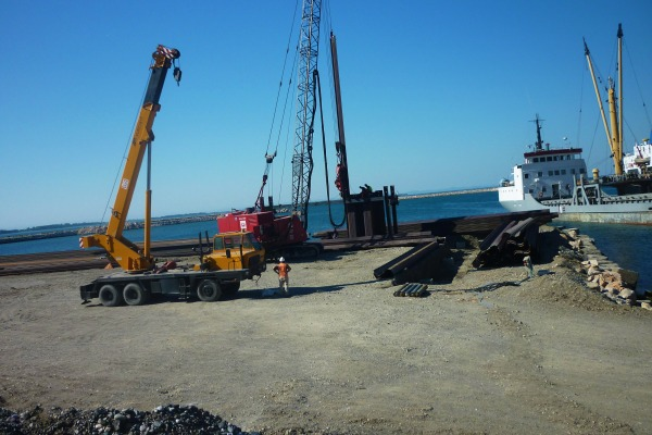 Construction works of Shengjin New Port Project
